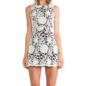 Alice + Olivia Lace Overlay Mini Dress Size 0